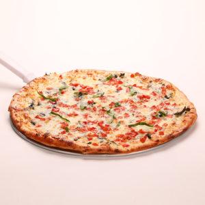 White Pizza w/Fresh Basil, Tomatoes & Garlic